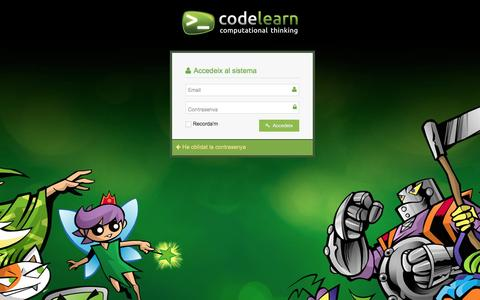 Screenshot of Login Page codelearn.cat captured July 14, 2016
