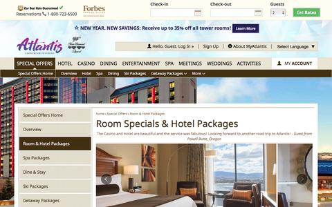 Screenshot of atlantiscasino.com - Room and Hotel Packages | Atlantis Hotel Reno - captured Jan. 10, 2017
