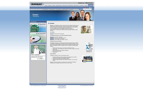 Screenshot of Jobs Page bergquistcompany.com - Careers ~ Thermal Interface Material, Thermal Management ~ The Bergquist Company - captured Oct. 26, 2014