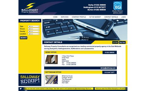 Screenshot of Locations Page salloway.com - Salloway | Locations - captured Oct. 4, 2014