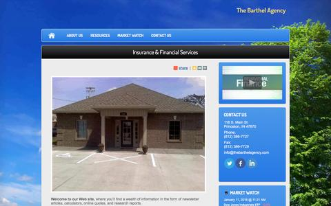 Screenshot of Home Page thebarthelagency.com - The Barthel Agency - captured Jan. 11, 2016
