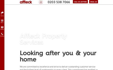 Screenshot of About Page affleckservices.co.uk - Affleck Property Services | London - captured Oct. 3, 2018