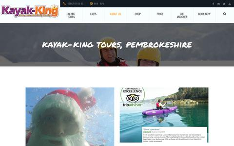 Screenshot of Blog kayak-king.com - Kayaking blog, Events, News and general ramblings about kayak-King and Kayaking. - captured Nov. 6, 2018