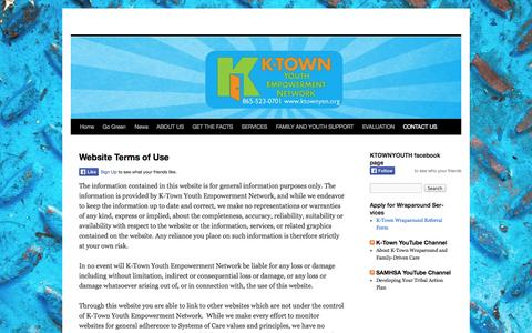 Screenshot of Terms Page ktownyen.org - Website Terms of Use | - captured Oct. 4, 2014