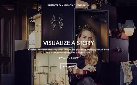 Screenshot of Home Page kristofersamuelsson.se - KRISTOFER SAMUELSSON PHOTOGRAPHY - captured Aug. 6, 2015