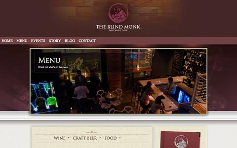 Screenshot of Menu Page theblindmonk.com - The Blind Monk » Menu - captured Oct. 6, 2014