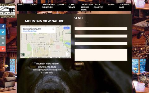 Screenshot of Privacy Page Contact Page mountainviewnature.com - Contact - captured Oct. 25, 2014