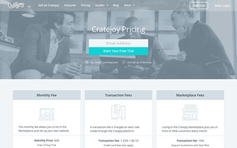 Screenshot of Pricing Page cratejoy.com - Cratejoy Pricing - Start a Subscription Website - captured Dec. 22, 2016