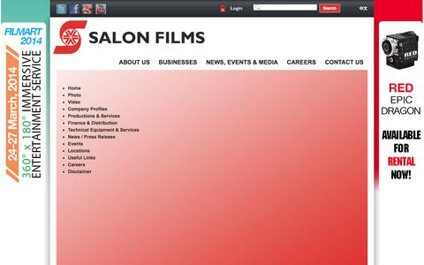 Screenshot of Site Map Page salonmedia.com - Sitemap - captured Oct. 4, 2014