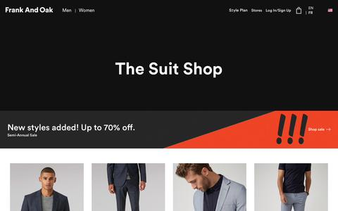 The Suit Shop | Frank And Oak