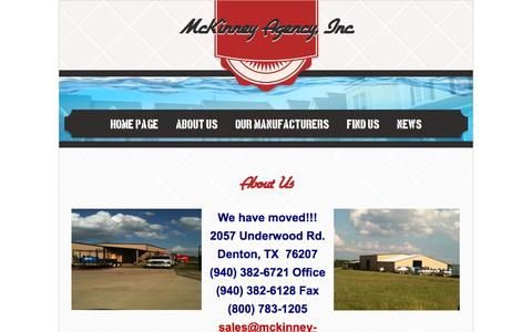 Screenshot of About Page mckinney-agency.com - About Us - captured Oct. 27, 2014