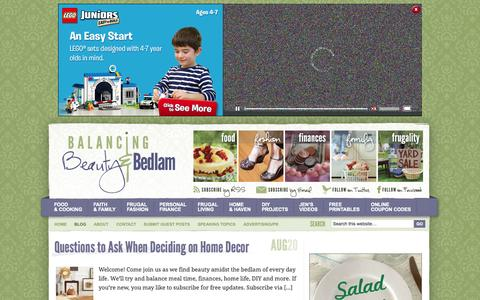 Screenshot of Blog beautyandbedlam.com - Blog - Balancing Beauty and Bedlam - captured Oct. 31, 2014