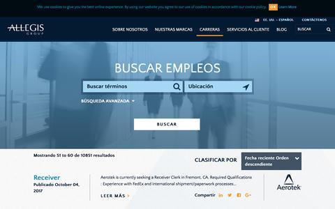 Screenshot of Jobs Page allegisgroup.com - Buscar Trabajos - captured Oct. 4, 2017