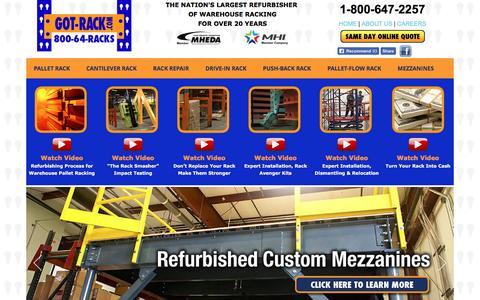 Screenshot of Home Page got-rack.com - Got Rack - Pallet Rack, Cantilever Rack, Pallet Rack Repair, Drive-In Rack, and Warehouse Mezzanine Manufacturer - captured Nov. 13, 2016