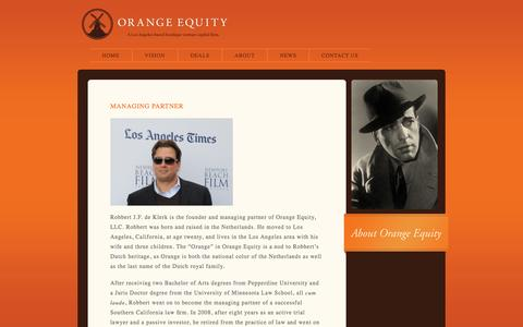 Screenshot of About Page orangeequityllc.com - About «  Orange Equity - captured Oct. 26, 2014