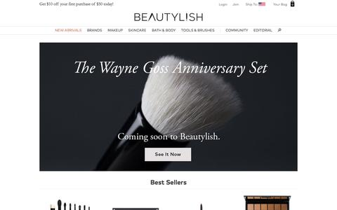 Screenshot of Home Page beautylish.com - Shop Exclusive Beauty Products, Browse Makeup Tutorials and Reviews   Beautylish - captured Oct. 14, 2015