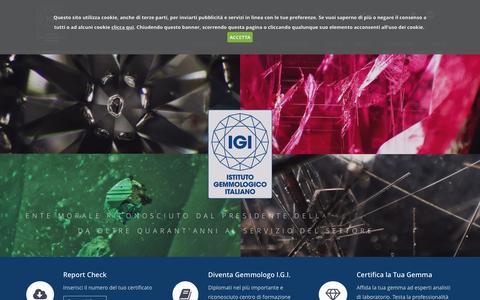 Screenshot of Home Page igi.it - Homepage - Istituto Gemmologico Italiano - captured Sept. 2, 2015