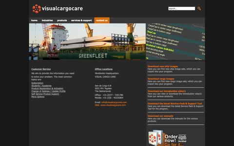 Screenshot of Contact Page visualcargocare.com - contact us - captured Oct. 26, 2014