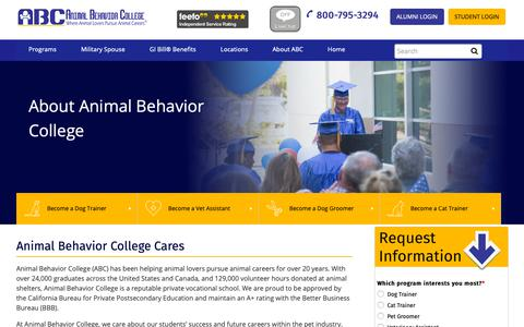 Screenshot of About Page animalbehaviorcollege.com - About Us | Animal Behavior College - captured Nov. 6, 2018