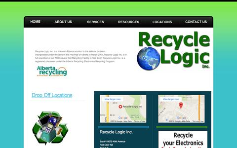 Screenshot of Locations Page recycle-logic.com - Recycle Logic Inc. Drop Off Locations - captured Feb. 23, 2016