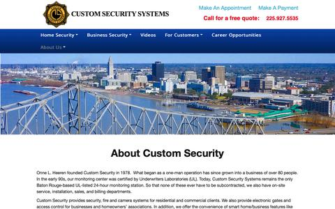 Screenshot of About Page customsecuritysystems.com - About Us - Custom Security Systems - captured Sept. 30, 2018
