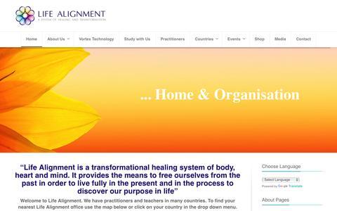 Screenshot of Home Page life-alignment.com - Welcome to Life Alignment - Life Alignment - captured Jan. 29, 2016