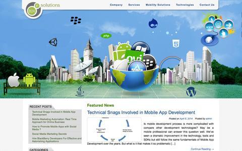Screenshot of Blog b24esolutions.com - B24 e Solutions Blog   Web, Mobile & iPhone Application Development Company - captured Oct. 10, 2014