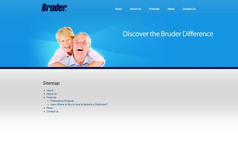 Screenshot of Site Map Page bruder.com - Sitemap | Bruder - captured Sept. 13, 2014