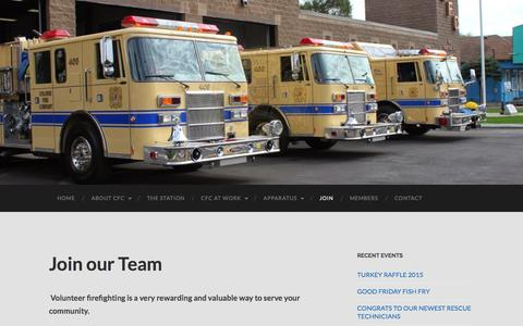 Screenshot of Signup Page coloniefire.com - Join our Team | - captured Jan. 29, 2016
