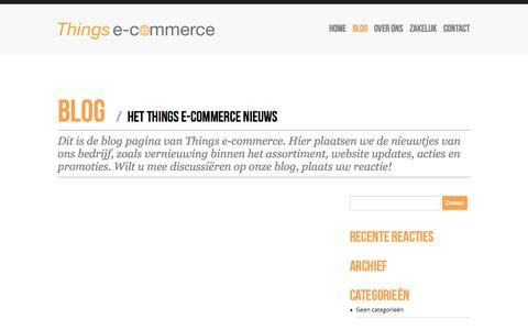 Screenshot of Blog thingsecommerce.nl - Things e-commerce | - captured Oct. 9, 2014