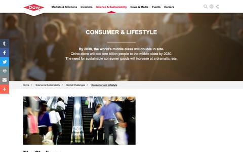 Global Challenges: Consumer and Lifestyle | Dow