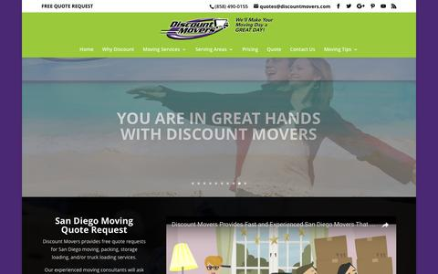 Screenshot of Blog discountmovers.com - San Diego Moving Company | Discount Movers - captured May 10, 2017