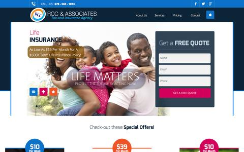 Screenshot of Home Page About Page Contact Page Services Page Pricing Page therccgroup.com - RCC & Associates - captured Feb. 14, 2016