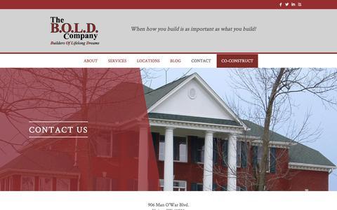 Screenshot of Contact Page theboldcompany.com - Contact - The B.O.L.D. Company - captured June 14, 2017