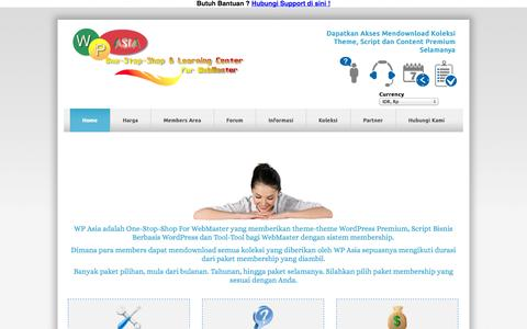 Screenshot of Home Page wordpress-theme.asia - Jual Theme WordPress Premium Murah, Jual Theme WordPress Premium Indonesia - captured Sept. 19, 2014