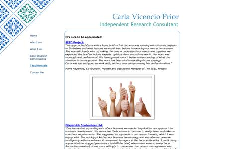 Screenshot of Testimonials Page cvp-research.co.uk - CVP-Research - Testimonials, vital work for future strategy, help to shape business development stratey - captured Sept. 26, 2014