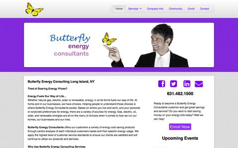 Screenshot of Home Page butterflyesco.com - Butterfly Energy Consultants - captured Oct. 5, 2014