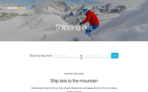 Shipping Skis Directly to the Mountain - Guaranteed by Luggage Forward®