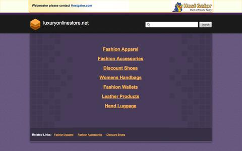 Screenshot of luxuryonlinestore.net - Contact Support - captured Oct. 12, 2017