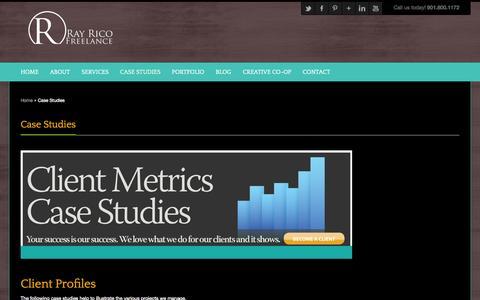 Screenshot of Case Studies Page rayricofreelance.com - Case Studies - Ray Rico FreelanceRay Rico Freelance - captured Oct. 26, 2014
