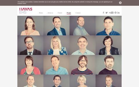 Screenshot of Team Page havasehs.com - People | Havas EHS - captured Sept. 26, 2014