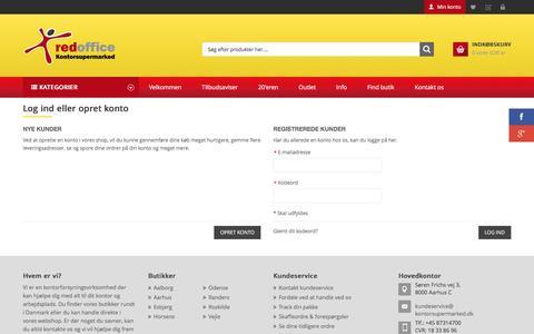 Screenshot of Login Page kontorsupermarked.dk - Kontorsupermarked Webshop |  Log-ind - captured Feb. 17, 2016