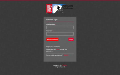 Screenshot of Login Page mulebar.com - Account | MuleBar - captured Aug. 10, 2015