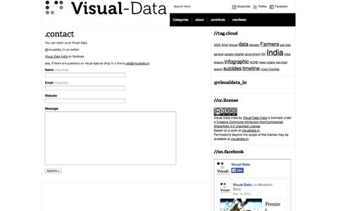 Screenshot of Contact Page visualdata.in - Visual-Data India » .contact - captured Oct. 7, 2014