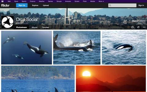Screenshot of Flickr Page flickr.com - Flickr: orcasocial's Photostream - captured Oct. 24, 2014