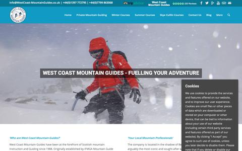 Screenshot of About Page westcoast-mountainguides.co.uk - Scottish Winter Climbing & Guide - - captured Oct. 20, 2018