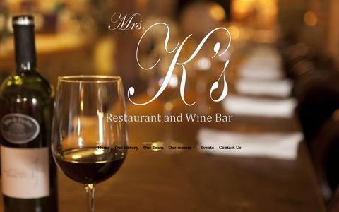 Screenshot of Team Page mrsks.com - Our Team – Mrs. K's Restaurant & Wine Bar - captured Dec. 19, 2016