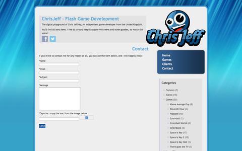 Screenshot of Contact Page chris-jeff.com - Contact «  Chris Jeff - captured Oct. 2, 2014
