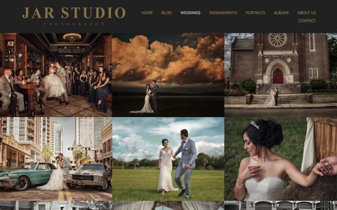 Screenshot of Home Page jarstudio.com - Orlando FL Wedding Portrait and Headshot Photographer JAR STUDIO Bride & Groom Wedding Day - captured Oct. 2, 2017