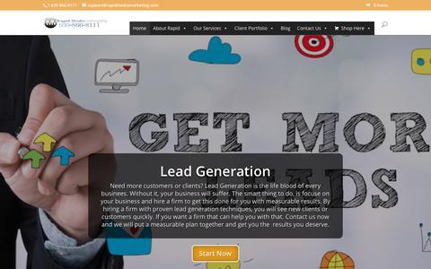 Screenshot of Home Page rapidmediamarketing.com - RapidMediaMarketing.com | Local Web Profits, You Deserve! - captured Oct. 23, 2018